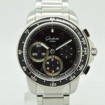 Glashütte Original Sport Evolution Chronograph Steel 42mm Black No numerals
