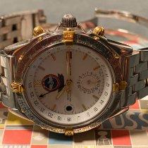 Breitling Duograph Золото/Cталь 40mm Белый Aрабские