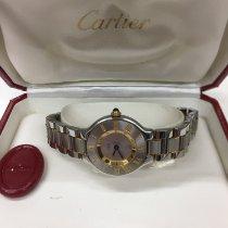 Cartier 21 Must de Cartier Stahl 28mm Silber Römisch