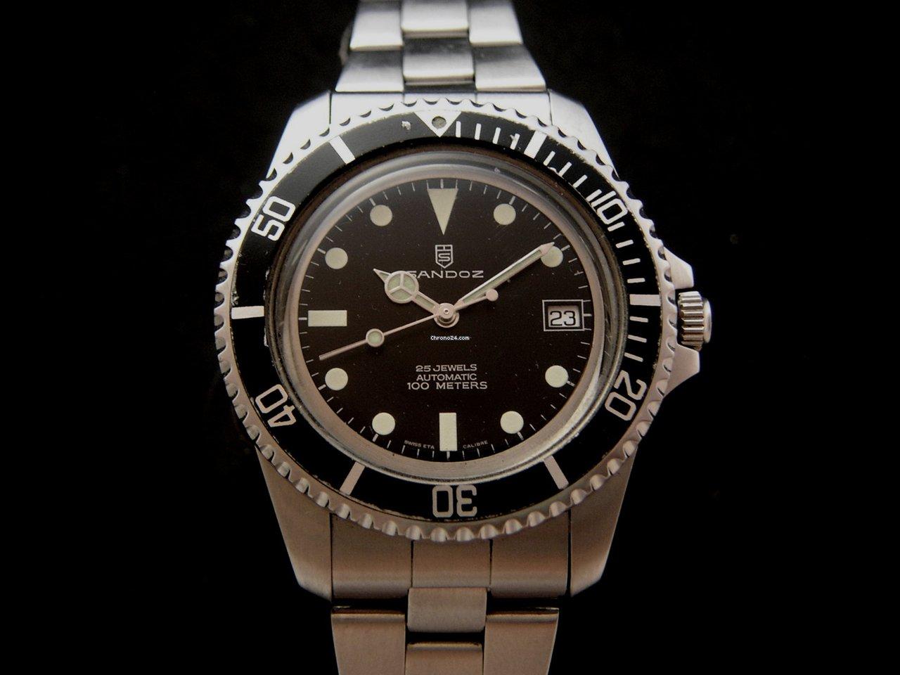 sandoz vintage 60 39 s automatic 100m diver watch verkauft auf chrono24. Black Bedroom Furniture Sets. Home Design Ideas
