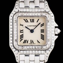 Cartier 18k White Gold Silver Dial Diamond Set Panthere WF3210F3