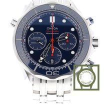 Omega Seamaster Diver 300m blue dial steel chronograph