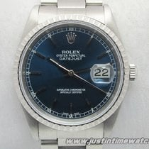Rolex Oyster DateJust 16220 quadrante blu full set