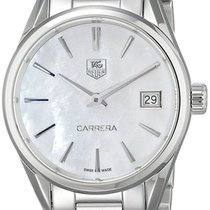 TAG Heuer Carrera White Mother of Pearl Dial Women Steel Watch...