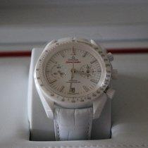 Omega Céramique Remontage automatique Blanc Sans chiffres nouveau Speedmaster Professional Moonwatch