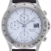 Longines Admiral Stahl Automatik Chronograph Armband Leder...