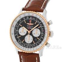 브라이틀링 (Breitling) Navitimer 01 Chronograph Red Gold Bezel...