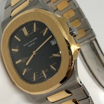 Patek Philippe Nautilus Jumbo Steel and Gold -Tropical Dial - ...