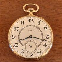 摩凡陀 腕錶 二手 1930 黃金 50mm 阿拉伯數字 手動發條 附正版包裝盒的手錶