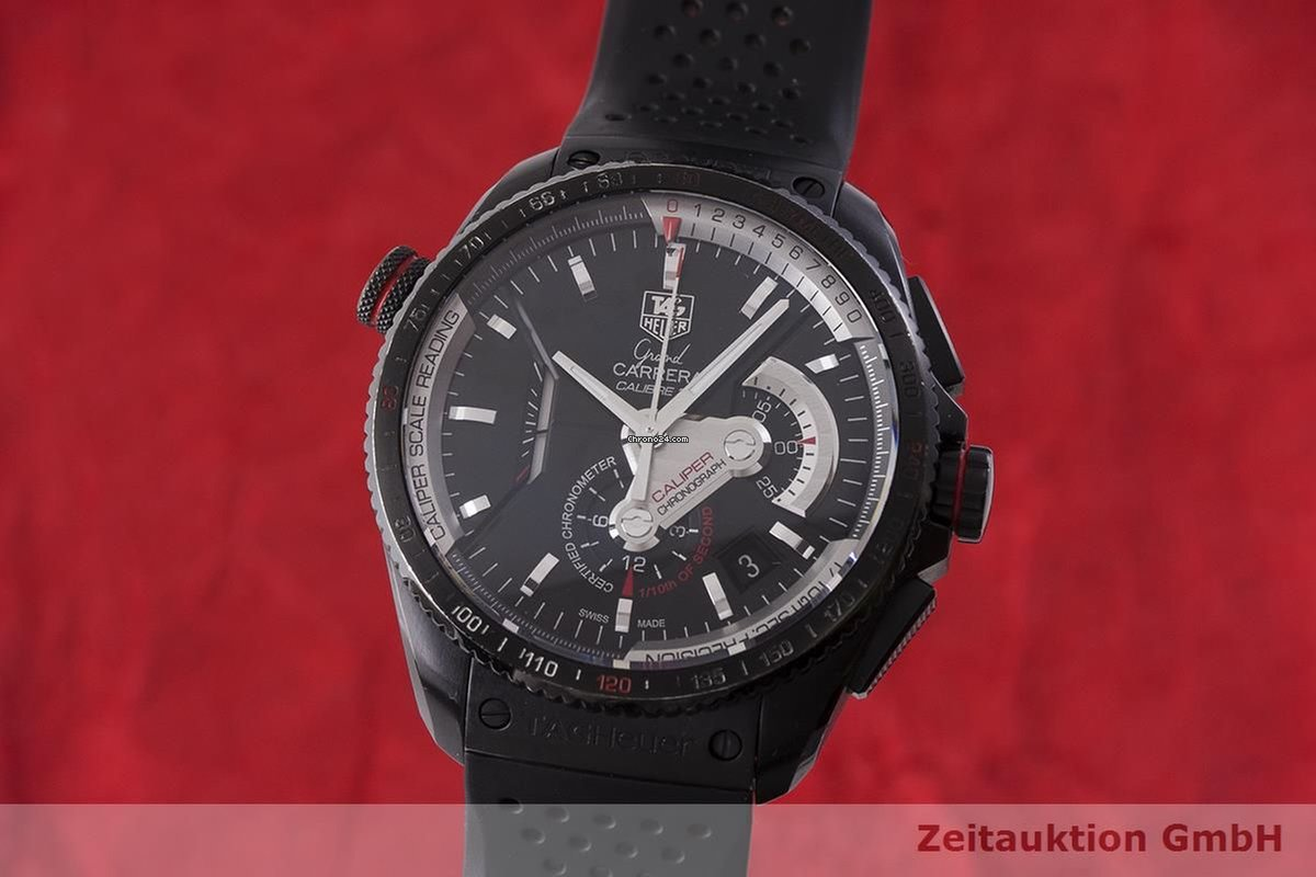 Heuer Carrera Chronograph Automatik Grand Cav5185 Tag Titan Herrenuhr mvwNn80