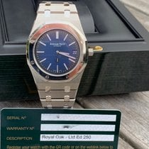 Audemars Piguet Royal Oak Jumbo Titan 39mm Blau Keine Ziffern