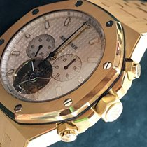 Audemars Piguet Royal Oak Tourbillon Yellow gold 44mm Silver No numerals