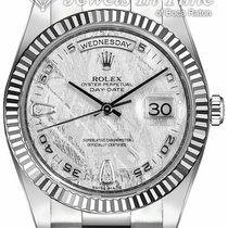 Rolex White gold Automatic Silver Arabic numerals 36mm pre-owned Day-Date 36