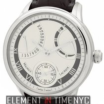 Maurice Lacroix Masterpiece Calendrier Retrograde Silver Dial...