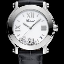 Chopard Happy 36mm White Dial With Diamonds T