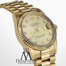 Rolex Yellow gold Automatic Champagne 31mm pre-owned Lady-Datejust