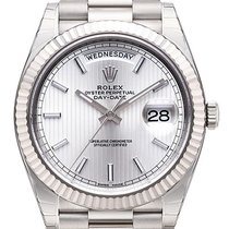 Rolex Day-Date 40 silver index