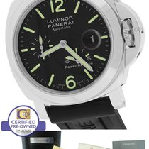 Panerai PAM 90 44mm Luminor Power Reserve Stainless Auto Watch