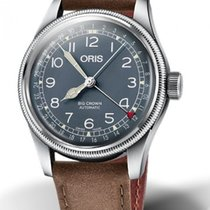 Oris Big Crown Pointer Date Acier 40mm Bleu France, Bordeaux