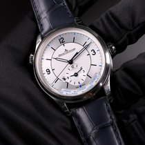 Jaeger-LeCoultre Master Geographic Time Zone Silver Dial Blue...