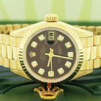 Rolex Lady-Datejust Yellow gold Brown