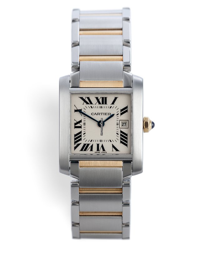 81da1468b973 Cartier W51012Q4 Tank Française Gold & Steel - Mid-Size Box & Papers