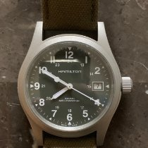 Hamilton Khaki Field Steel 38mm Black Arabic numerals United States of America, Illinois, joliet
