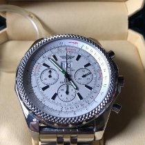 Breitling Bentley 6.75 pre-owned 48mm Silver Chronograph Date Steel