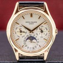 Patek Philippe Perpetual Calendar pre-owned 36mm Moon phase Date Month Year 4-year calendar Perpetual calendar Leather