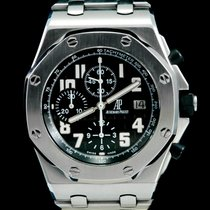 Audemars Piguet Royal Oak Offshore Chronograph occasion 42mm Noir Chronographe Date Acier