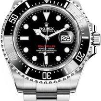 Rolex Sea-Dweller Staal 43mm Zwart Geen cijfers