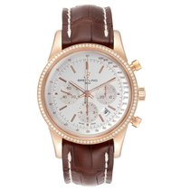 Breitling Transocean Roségold 43mm Silber