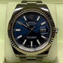 Rolex Datejust II Acero 41mm Azul Sin cifras
