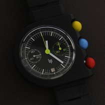 Lip Chronograph 41mm Manual winding pre-owned Mach 2000 Black
