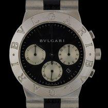 Bulgari 18k White Gold Diagono Chronograph Gents Wristwatch...