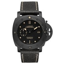 Panerai Ceramic Automatic Black No numerals 47mm pre-owned Special Editions