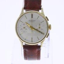Leonidas Vintage Chronograph 18K Gold 2 Register
