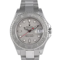 Rolex Yacht-Master pre-owned 35mm Silver Date Steel