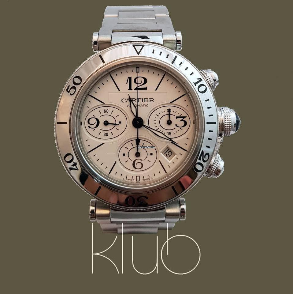 99bbf95c270 Cartier Pasha Seatimer Aço - Todos os preços de relógios Cartier Pasha  Seatimer Aço na Chrono24