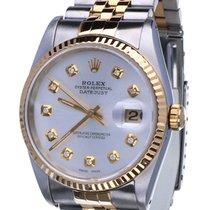 Rolex Oyster Datejust Jubilee Gold Steel Silver Dial 36 mm (1990)