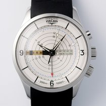 Vulcain Nautical Steel 42mm White Arabic numerals