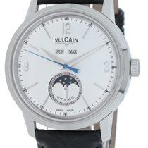 Vulcain 50s Presidents Stål 42mm Sølv