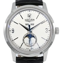 Vulcain new Automatic Display back Central seconds Tempered blue hands 42mm Steel Sapphire crystal