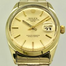 Rolex Yellow gold Automatic Gold No numerals 34mm pre-owned Oyster Perpetual Date