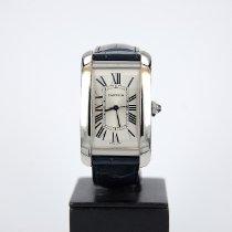 Cartier Tank Américaine Steel Silver Roman numerals