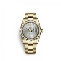 Rolex Day-Date 36 Or jaune 36mm Argent