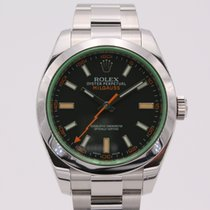 Rolex Milgauss Сталь 40mm Зелёный Без цифр