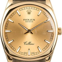 Rolex Cellini Danaos Oro blanco 38mm Negro
