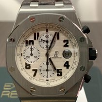 Audemars Piguet Royal Oak Offshore Chronograph Acciaio 42mm Bianco Arabo Italia, modena