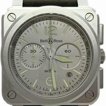 Bell & Ross BR 03-94 Chronographe pre-owned 42mm Grey Chronograph Date Tachymeter Calf skin